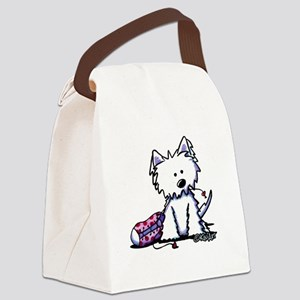 Shoe Chew Westie Canvas Lunch Bag