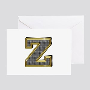 Z Gold Diamond Bling Greeting Card