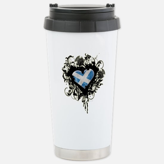 Scottish Heart Stainless Steel Travel Mug