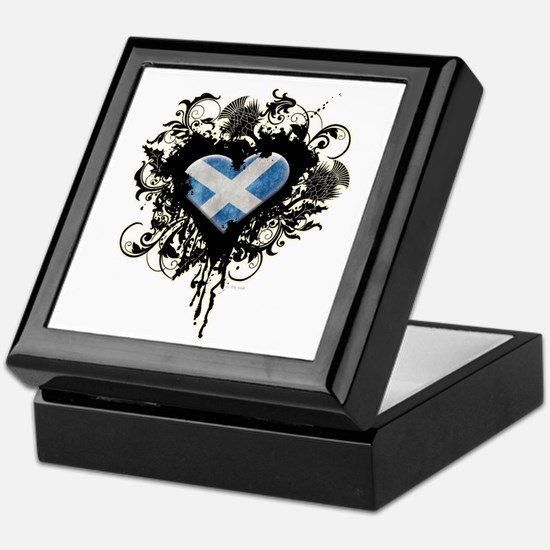 Scottish Heart Keepsake Box