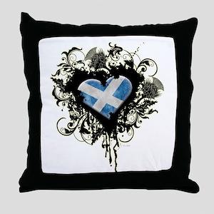 Scottish Heart Throw Pillow