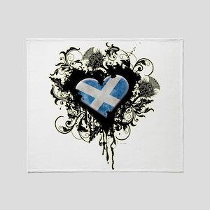 Scottish Heart Throw Blanket