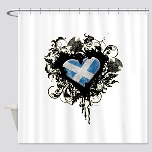 Scottish Heart Shower Curtain