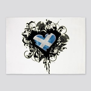 Scottish Heart 5'x7'Area Rug