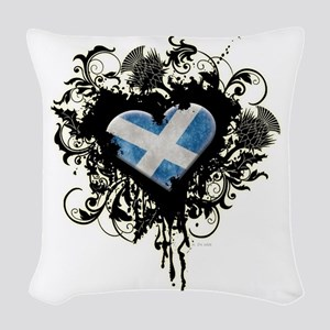 Scottish Heart Woven Throw Pillow