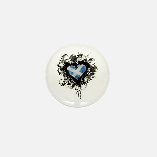 Scottish Heart Mini Button