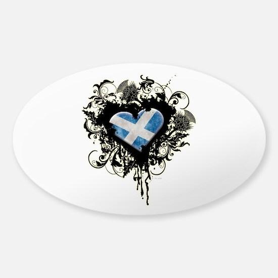 Scottish Heart Sticker (Oval)