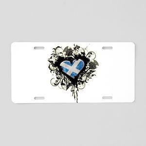 Scottish Heart Aluminum License Plate