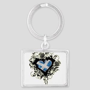 Scottish Heart Landscape Keychain