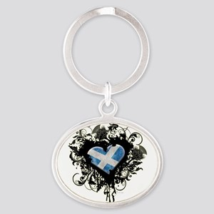 Scottish Heart Oval Keychain