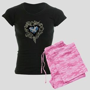 Scottish Heart Women's Dark Pajamas
