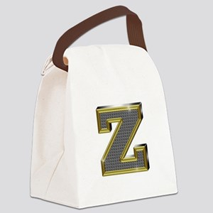 Z Gold Diamond Bling Canvas Lunch Bag