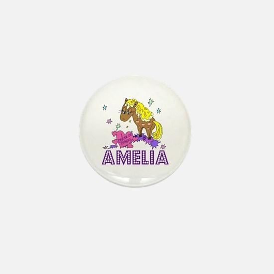 I Dream Of Ponies Amelia Mini Button