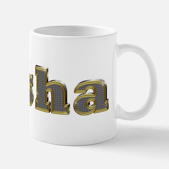 Sasha Gold Diamond Bling Mugs