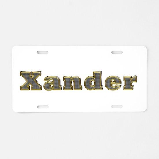 Xander Gold Diamond Bling Aluminum License Plate