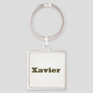 Xavier Gold Diamond Bling Square Keychain