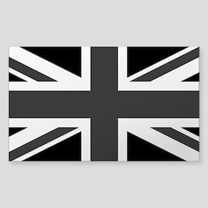 Union Jack: Black and Cl Sticker (Rectangle 10 pk)