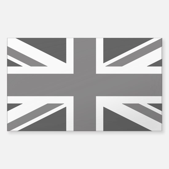 Union Jack: Black and Cl Sticker (Rectangle 10 pk)