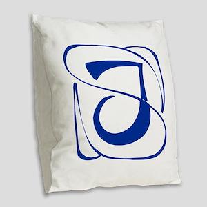 J-Kon blue2 Burlap Throw Pillow