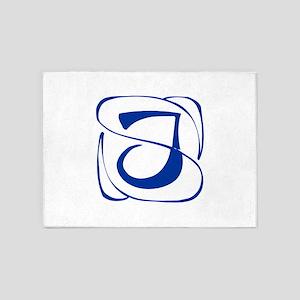 J-Kon blue2 5'x7'Area Rug