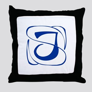 J-Kon blue2 Throw Pillow