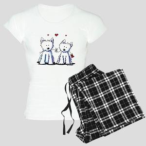 KiniArt Westie Friends Women's Light Pajamas