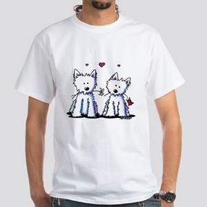 KiniArt Westie Friends White T-Shirt