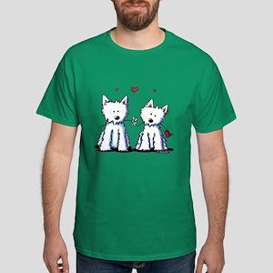KiniArt Westie Friends Dark T-Shirt
