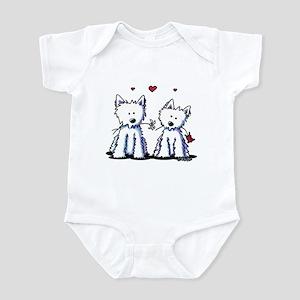 KiniArt Westie Friends Infant Bodysuit