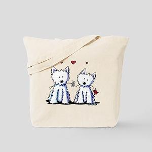 KiniArt Westie Friends Tote Bag
