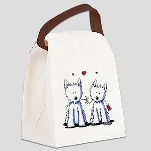 KiniArt Westie Friends Canvas Lunch Bag