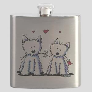 KiniArt Westie Friends Flask