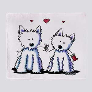 KiniArt Westie Friends Throw Blanket