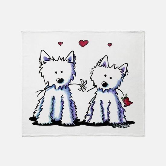 KiniArt Westie Friends Throw Blanket