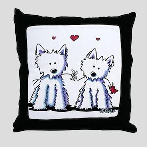 KiniArt Westie Friends Throw Pillow