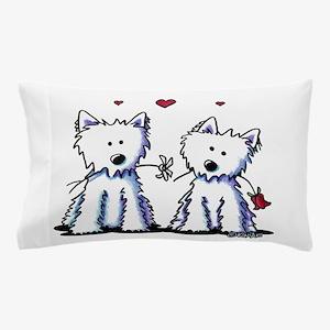 KiniArt Westie Friends Pillow Case