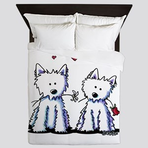 KiniArt Westie Friends Queen Duvet