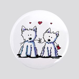 "KiniArt Westie Friends 3.5"" Button"