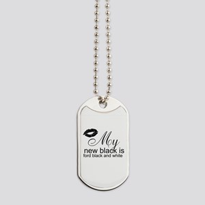 Ford Black and White Dog Tags