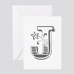 J-Max gray Greeting Cards