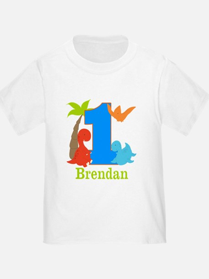 1st Birthday Dinosaur Personalized T-Shirt
