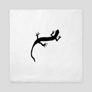 Lizard Silhouette Queen Duvet