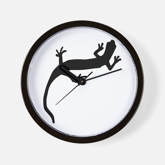 Lizard Silhouette Wall Clock