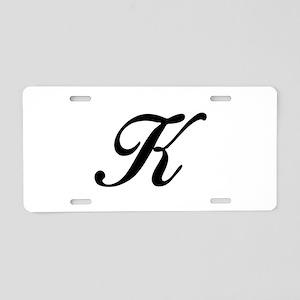 K-Bir black Aluminum License Plate