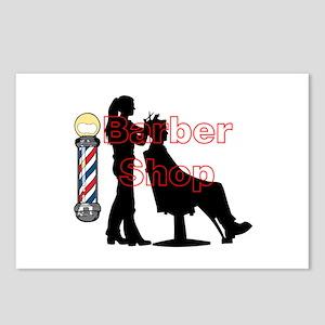Lady Barber Shop Design Postcards (Package of 8)