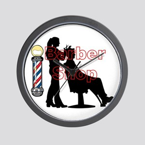 Lady Barber Shop Design Wall Clock
