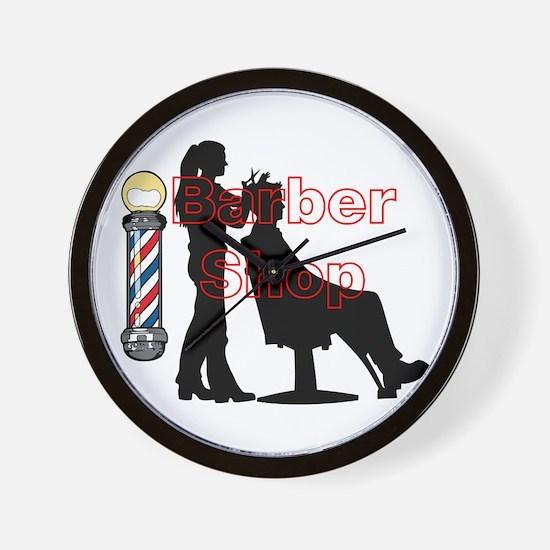 Lady Barber Shop Design Wall Clock