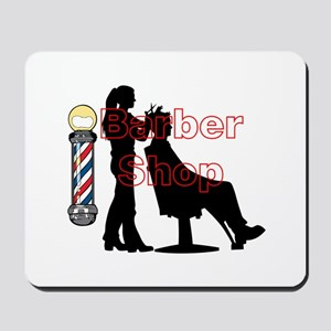 Lady Barber Shop Design Mousepad