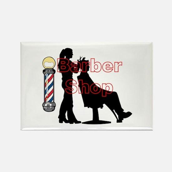 Lady Barber Shop Design Magnets