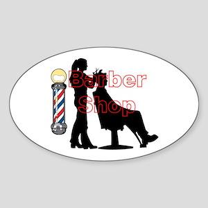 Lady Barber Shop Design Sticker